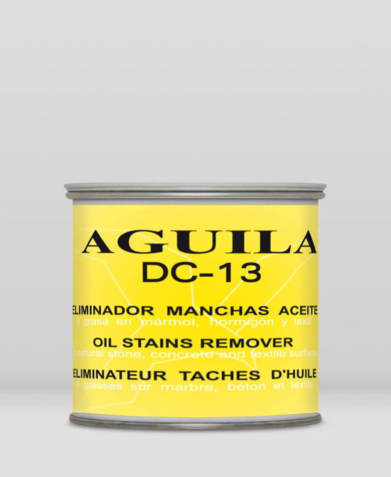 Dc 13 oil stains remove abrasivos aguila for Grease stains on concrete